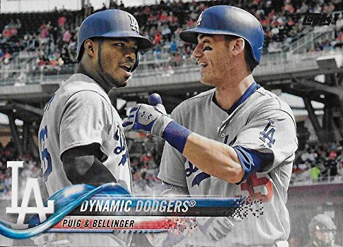 2018 Topps Checklist - 2018 Topps Baseball Series 2#565 (UER 365) Yasiel Puig/Cody Bellinger Los Angeles Dodgers (Checklist) Official MLB Trad