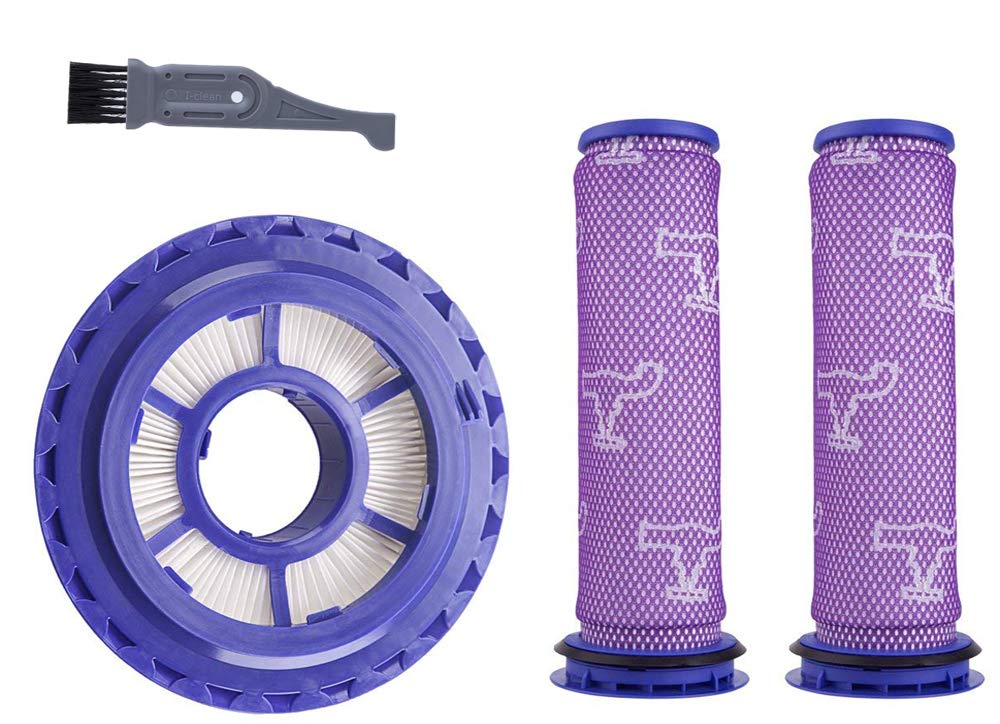 I clean Filter Kits for Dyson DC41/DC65 Vacuums, 2 Packs Pre-Filter and 1 Pack Post-Motor HEPA Filter for Dyson Animal Upright Vacuum,Replaces Part # 920769-01 & 920640-01 by I clean