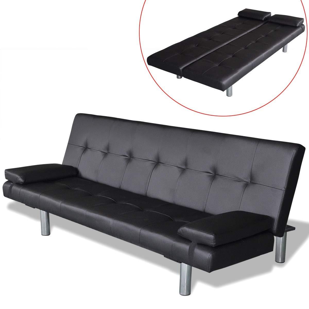 Vidaxl Kunstleder Sofabett Sofa Couch Couch Sofa Schlafcouch