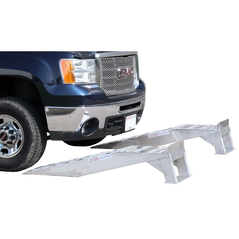 Pair of Aluminum Pickup Truck Wheel Riser Service Ramps by Rage Powersports (Image #6)