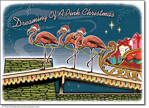 Flamingo Christmas Cards.Flamingo Christmas Cards Kritters In The Mailbox