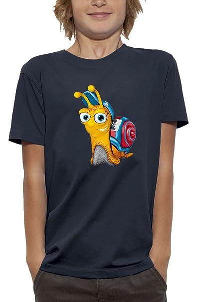 PIXEL EVOLUTION Camiseta 3D Turbo EL Caracol en Realidad Aumentada Niño: Amazon.es: Ropa y accesorios