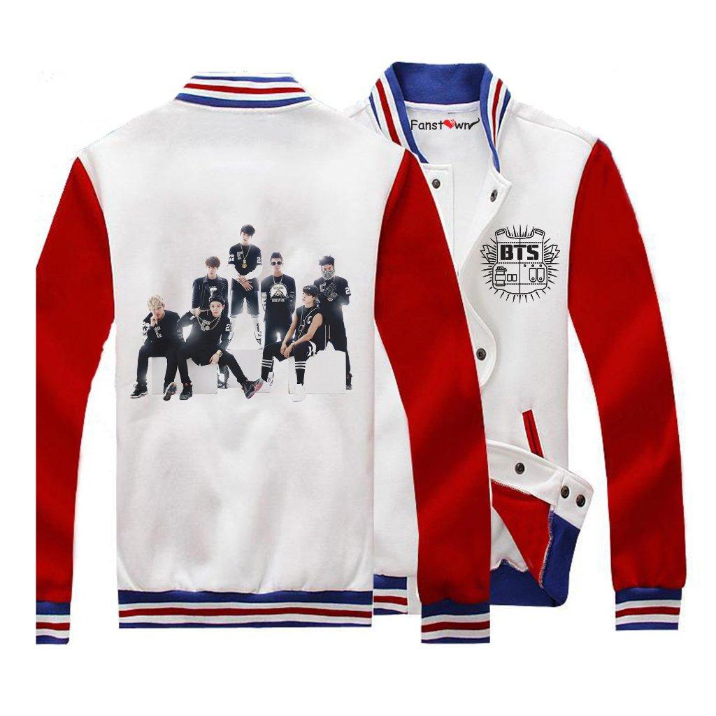 Fanstown BTS Bangtan Boy 公式同様野球パーカーセーター J-HOPE B015GRL0VE L TeamA TeamA L