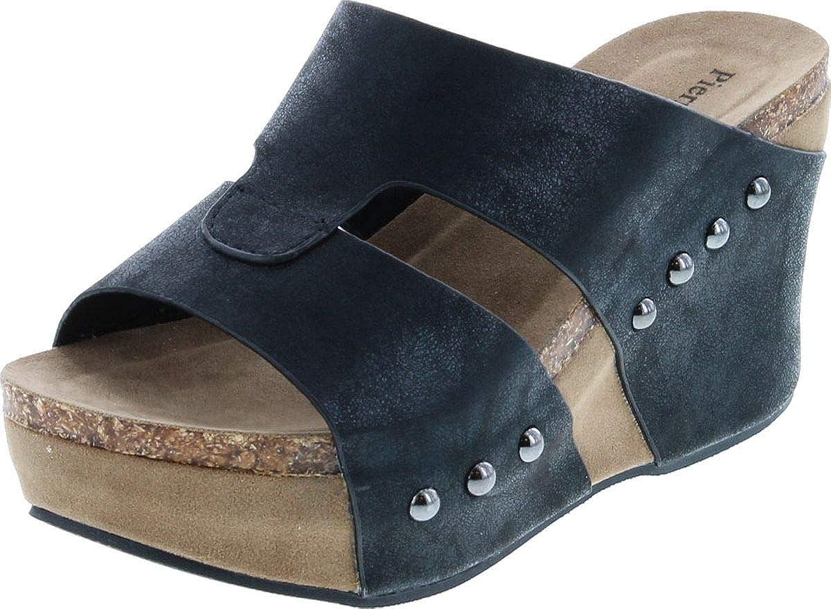 Pierre Dumas Women's Hester-7 Studded Platform Wedge Sandals