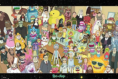 Rick And Morty - TV Show Poster / Print (The Complete Cast) (Size: 36