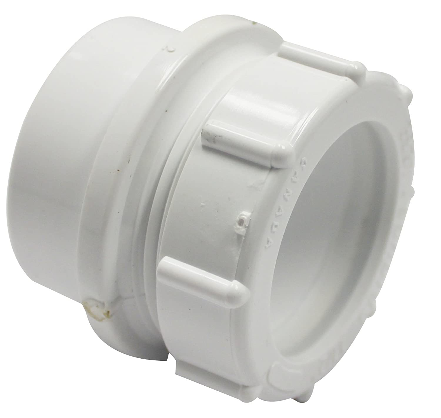 White 1.5-Feet Canplas 192801A PVC DWV Trap Adapter with Washer