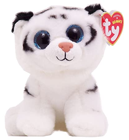 e11a8076270 Ty Beanie Boos Plush Toy Doll Big Eyes Tundra the White Tiger Size 9 ...