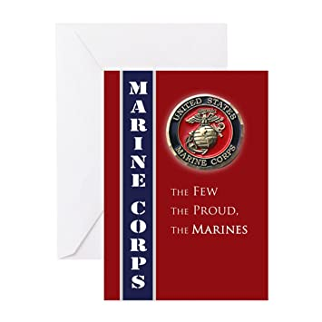 Amazon Cafepress Usmc Coin Greeting Cards Greeting Card