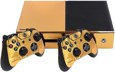 stillshine Xbox One Diseño Pantalla para mando de consola + 2 + cámara Pegatinas Skin Set dorado Glossy Gold: Amazon.es: Informática