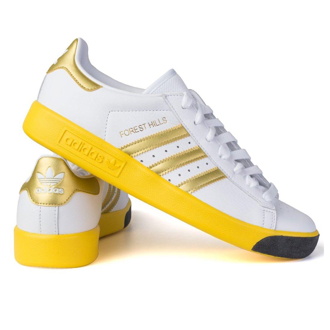 日本国内正規品 アディダス adidas オリジナルス フォレストヒルズ [FOREST HILLS] ランニングホワイト/ゴールドメット/イーキューティーイエロー CQ2083 B07BMT547V 24.5cm