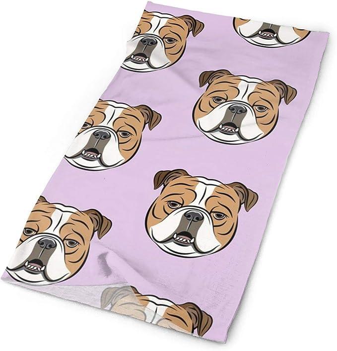 British Bulldog Scarf Printed Scarves Gifts for Dog Lovers Women Men
