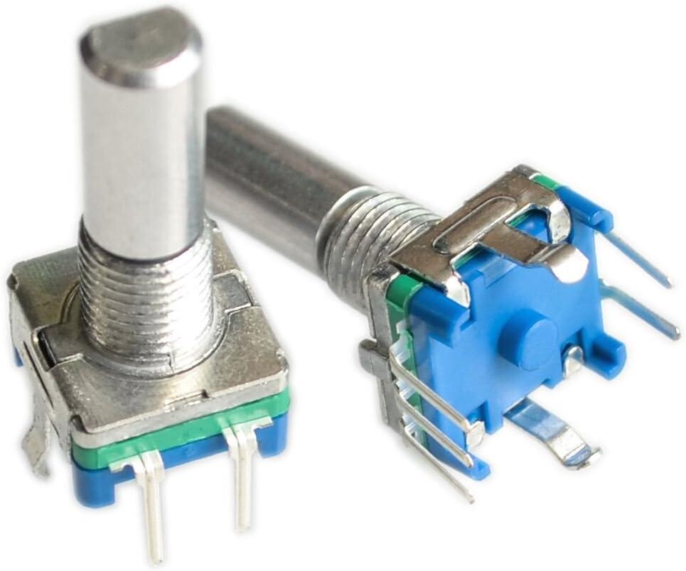 5pcs EC11 Rotary Encoder Audio Digital Potentiometer with Switch Handle 20mYA60