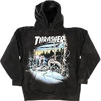 b47106e21662 Thrasher Magazine 13 Wolves Black Tie Dye Hooded Sweatshirt