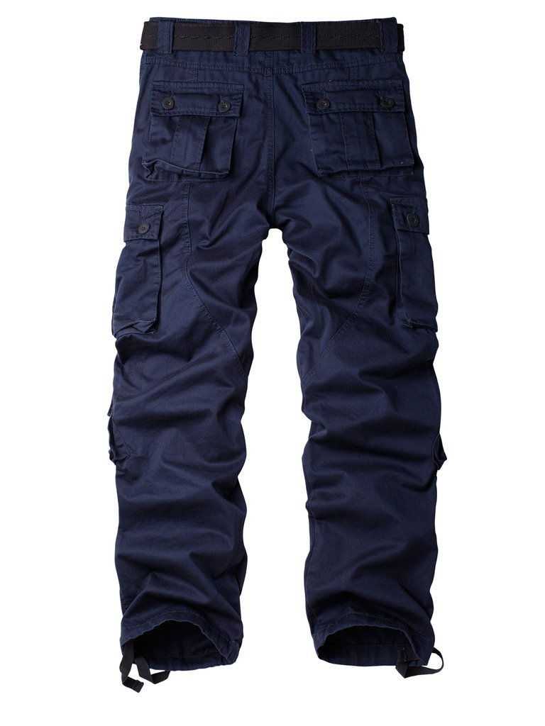 AKARMY Must Way Mens Cotton Casual Military Army Cargo Camo Combat Work Pants with 8 Pocket