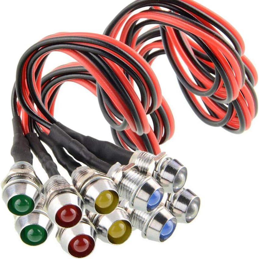 Green PME 5pcs//set LED Indicator Light Bulb Pilot Dash LED Lamp 12v Universal for Car Auto Vehicle Boat Truck