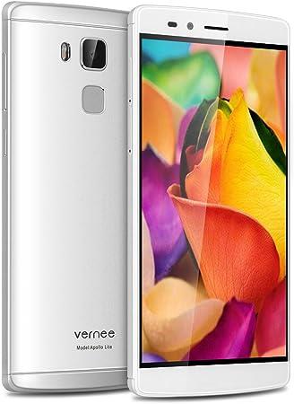 Vernee Apollo Lite - 4G Smartphone Libre Deca-Core Android 6.0 (Pantalla 5.5??¨¤Fhd 1920X1080P, Mt6797, 4G Ram, 32G Rom, Dual Sim, Type-C, 16Mp C¡§¡Émara Huella Dactilar) (Plata): Amazon.es: Electrónica