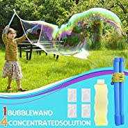 JoinJoy Giant Bubble Wands Kit - Wand, Big Bubble Concentrate and Bottle | Easy to Use for Parties, Wedding, I