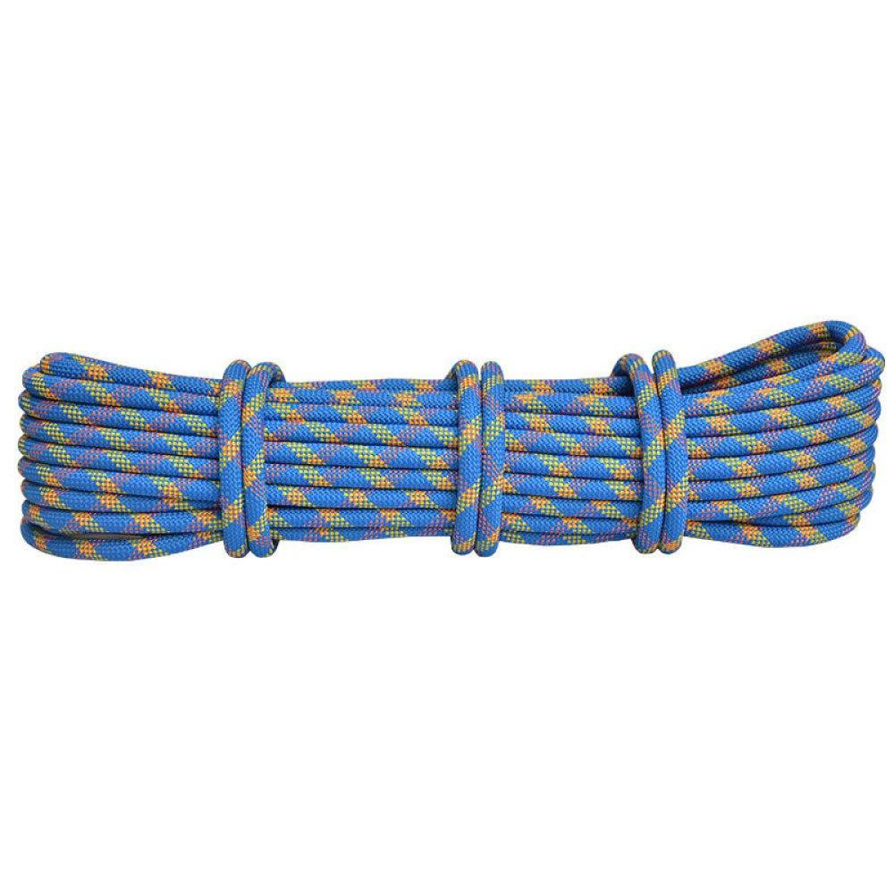 Bleu ERHANG Rock Escalade Corde CÂble d'alimentation en Plein Air Usure en Nylon Downhill Assurance Corde équipement 50m11mm