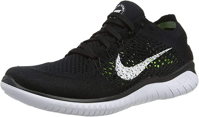 frío hoy humedad  Nike Womens Free RN Flyknit 2018 Running Shoes (9.5 B(M) US) Black/White |  Road Running - Amazon.com