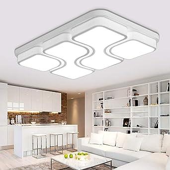 MYHOO 100W Kaltweiß LED Deckenleuchte Modern Deckenlampe Schlafzimmer Küche  Flur Wohnzimmer Lampe Wandleuchte Energie Sparen Licht [Energieklasse A++]
