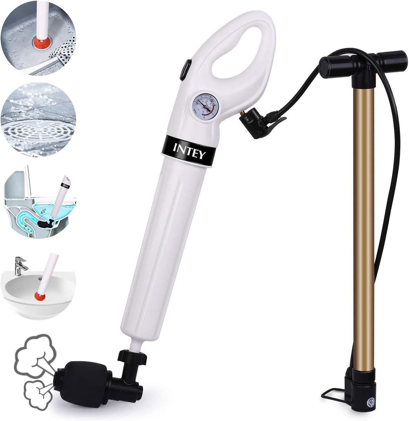Intey - Desatascador de inodoro, presión de aire fuerte, manual de ...