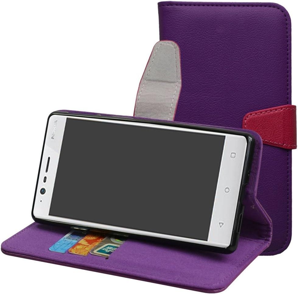 MAMA MOUTH Nokia 3 5.0 Funda, PU Cuero Billetera Cartera Monedero con Soporte Funda Caso Case para Nokia 3 5.0 Smartphone,Púrpura: Amazon.es: Electrónica