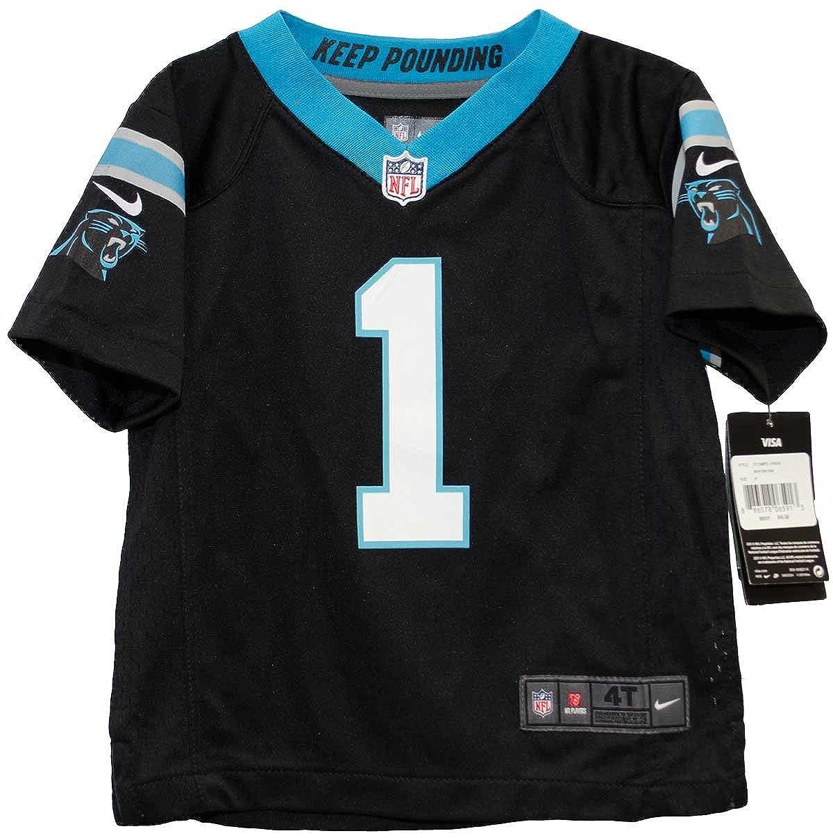 eea8d583 Amazon.com: Cam Newton Carolina Panthers Nike Game Toddler Jersey (4T):  Clothing