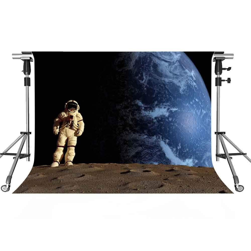 宇宙飛行士背景幕 宇宙飛行士 写真背景 MEETSIOY 7x5フィート テーマパーティー 写真ブース YouTubeバックドロップ GEMT1351   B07GSMBT6F