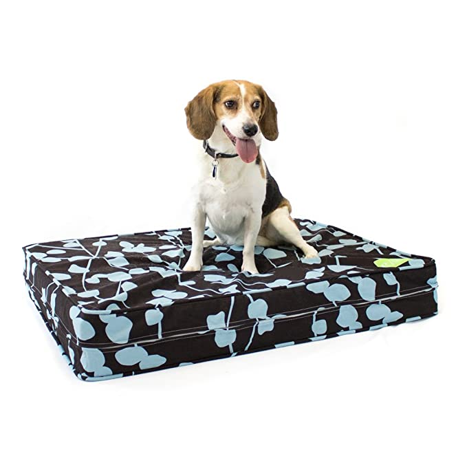 Orthopedic Dog Bed - 12 cm Thick | Supportive Gel Memory Foam - Made in the USA | 100% Cotton Removable Cover w/ Waterproof Encasement | Fully Washable ...