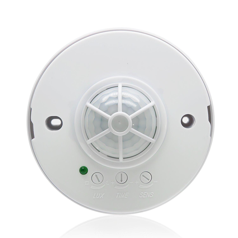 Sensky SK037 3-12M 360 Degree PIR Ceiling Occupancy Motion Sensor Light Switch High Sensitive Motion Sensor Switch (110V-240VAC)