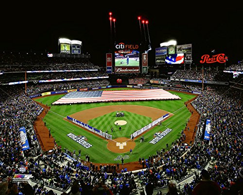 New York Mets Game (Citi Field New York Mets 2015 MLB World Series Game 3 Photo (Size: 8