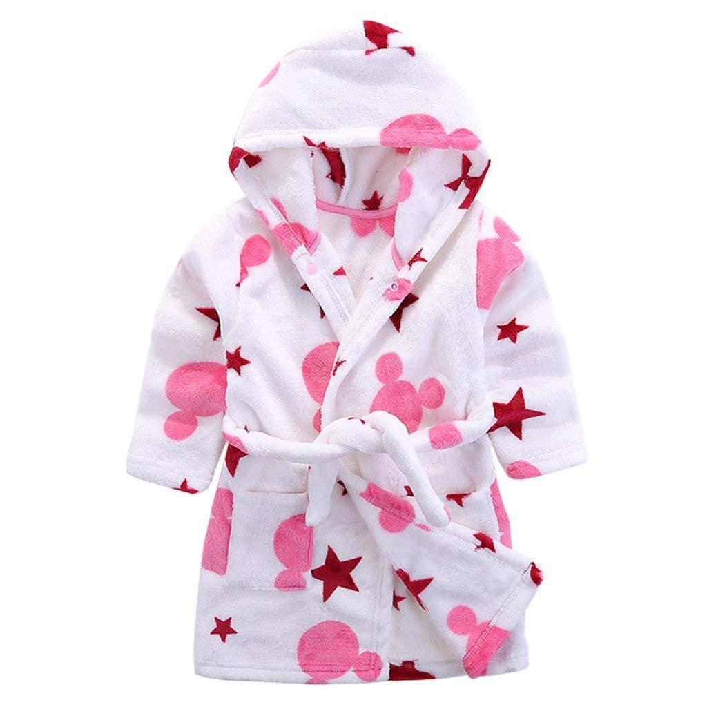 Baby Boys Girls Bathrobe Soft Plush Infant Toddler Super Comfy Sleepwear Outfit HC-BR-13