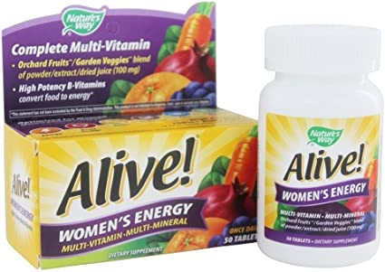 Amazon Com Nature S Way Alive Women S Energy Multivitamin Multimineral Tablets 50 Ct Pack Of 3 Health Personal Care