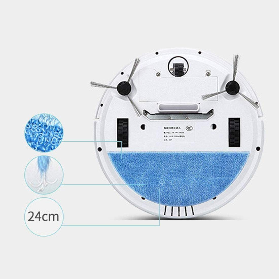 UPANV Filtre Télécommandé pour Robot Aspirateur Et Puissant Filtre À Franges pour Surfaces De Sols Durs, Poils d\'animaux, Design Super Silencieux, 4 Couleurs,Bleu Blue