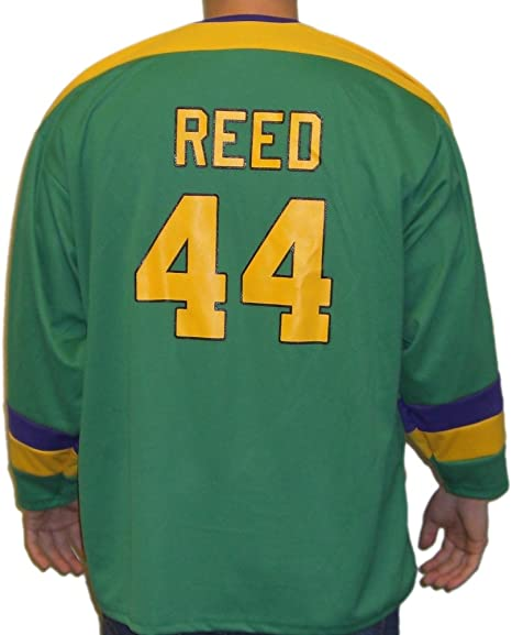 Fulton Reed #44 Mighty Ducks Movie Jersey T-Shirt Bash Brothers Hockey Costume
