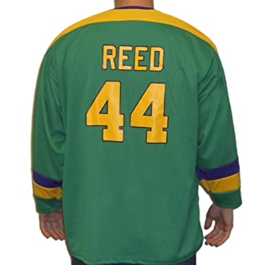 bee1d2ba418 Fulton Reed  44 Mighty Ducks Movie Hockey Jersey Bash Brothers Slap Shot  Costume
