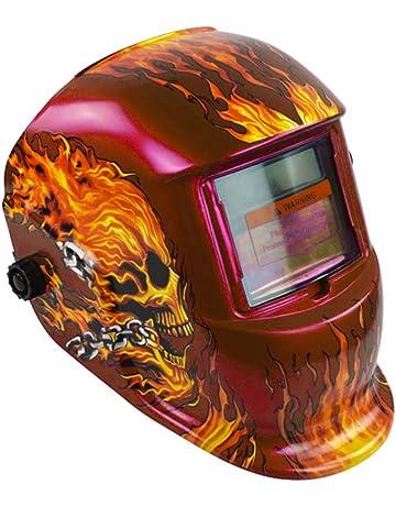Casco de soldadura, Solar Power Auto Darkening Hood Soldador máscara de molienda cascos con rango