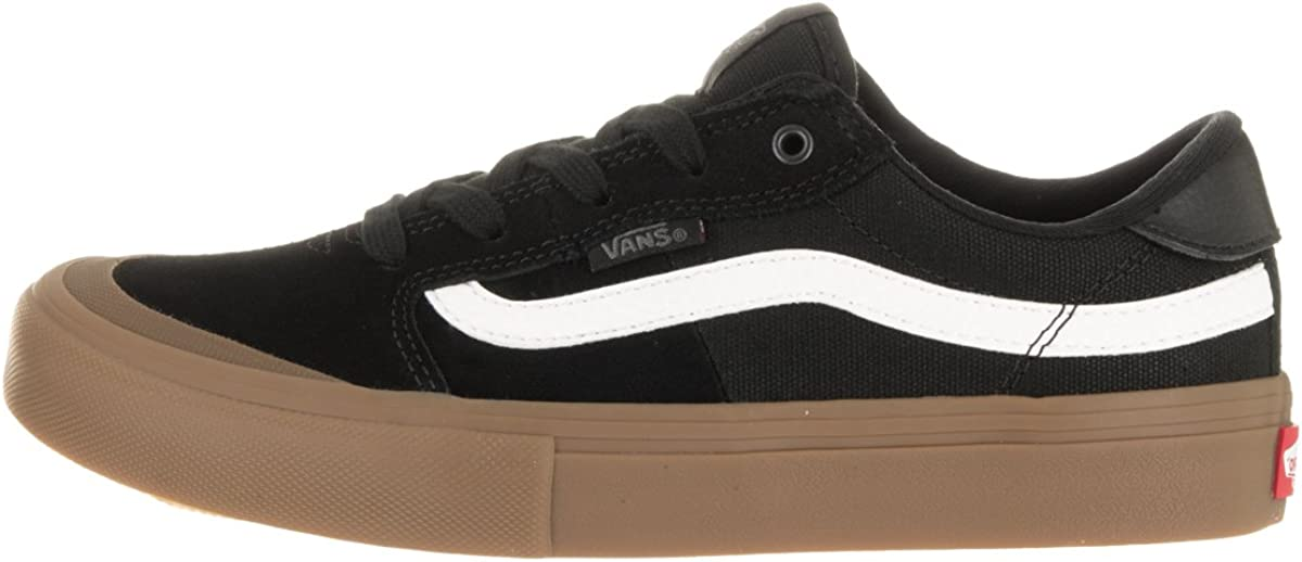 Vans – Style 112 PRO Skate Shoe, Nero (BlackWhiteGum), 36