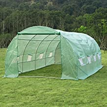 Outsunny 20' x10' x 6.7' Walk-In Greenhouse Garden Plant Seed Green House Premium Steel Frame