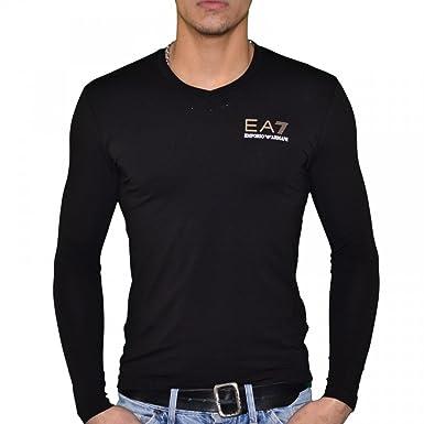 271f74e8a19da Ea7 Emporio Armani - T Shirt Manches Longues - Homme - Train Core Lux - Noir