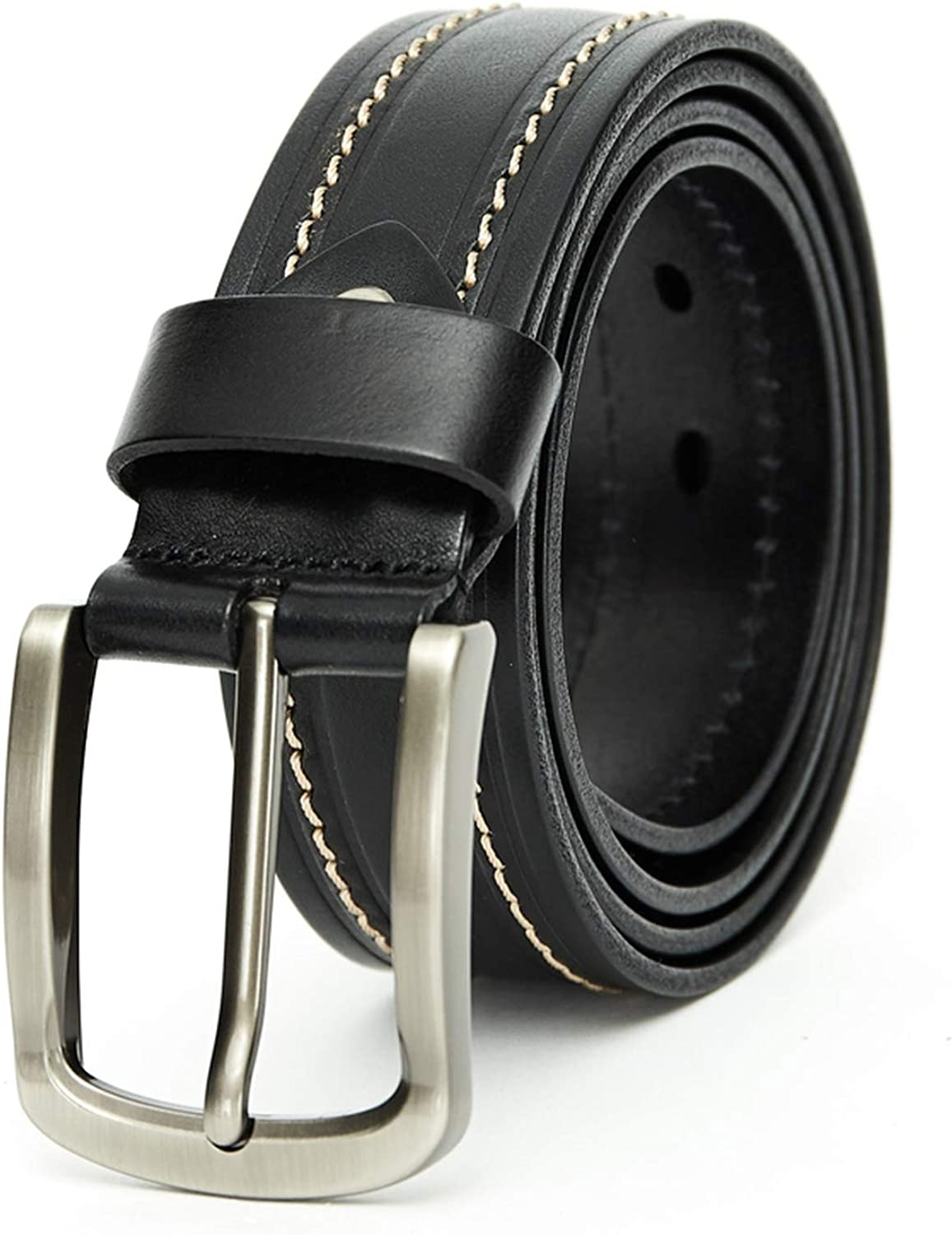 HEAVY DUTY SOLID LEATHER BELT PURE GENUINE LEATHER 100/% COWHIDE MADE IN USA