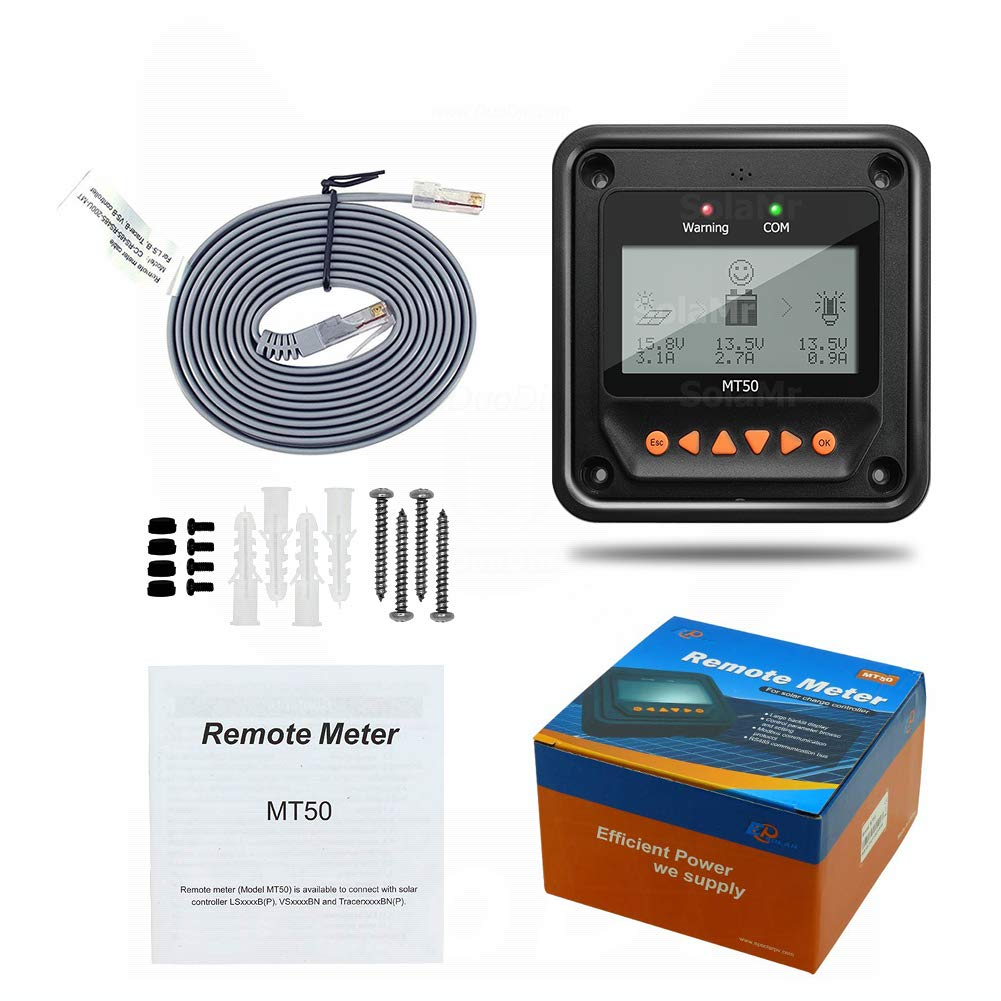 EPEVER/® 10A MPPT Solarladeregler 12V//24V Automatische Identifizierung mit LCD-Display f/ür Kommunikation Basisstationen und HaushaltsSysteme Tracer 1210AN