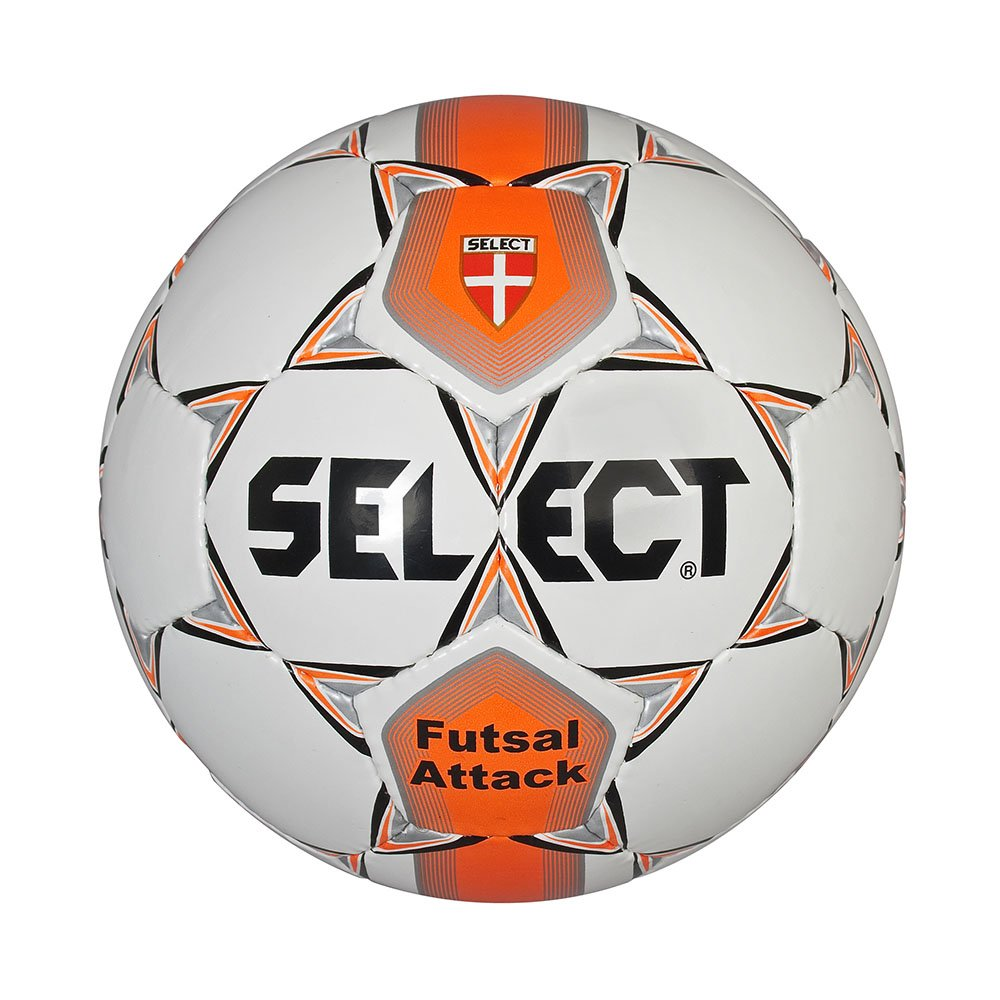 Select Attack - Balón Cosido, Color Blanco/Naranja, tamaño 62 ...