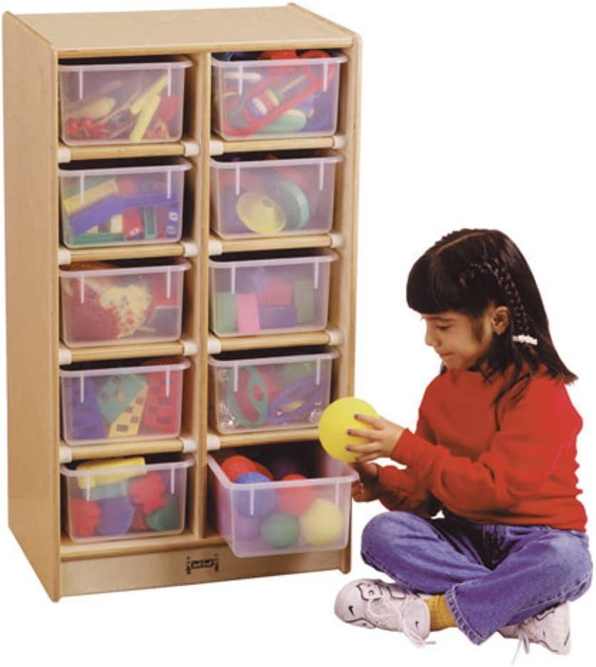 Amazon Com Jonti Craft 8 Tray Kids Children Toy Storage Organizer Cubbie Mobile Storage Unit Without Trays Furniture Decor