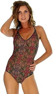 product image for Lifestyles Direct Tan Through Pink Safari Adjustable Criss-Cross Strap Tank