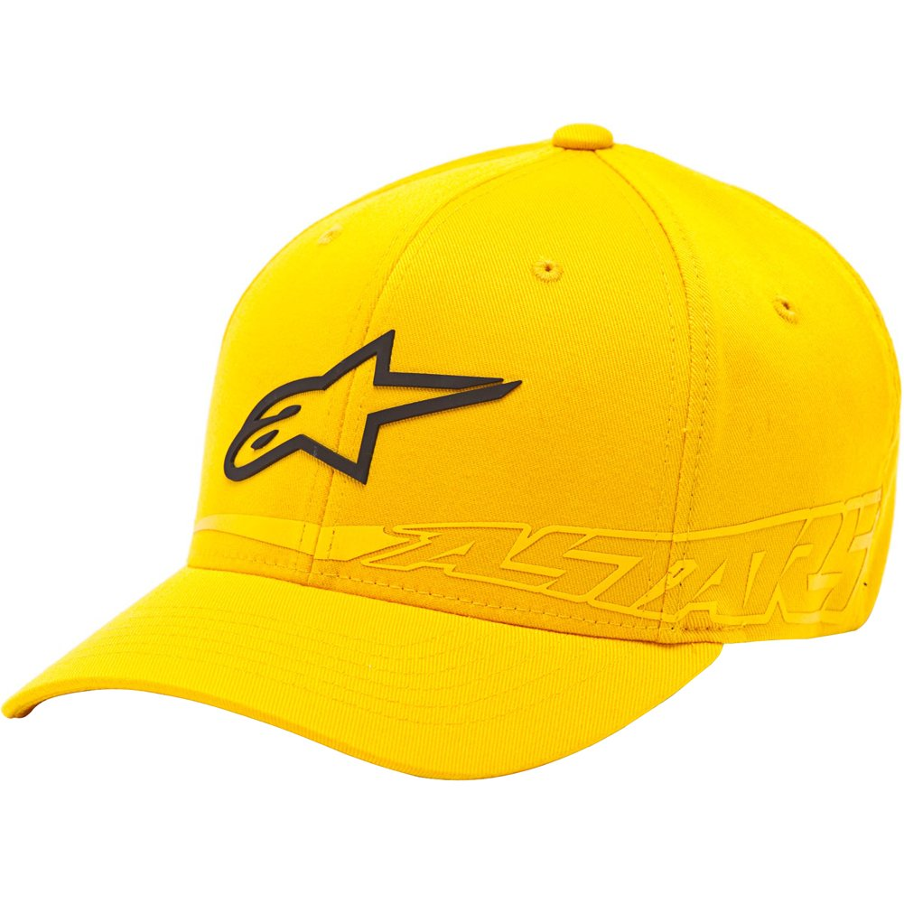 Alpinestars Surrey Curved Bill Hat, Gender: Mens/Unisex, Distinct Name: Yellow, Primary Color: Yellow, Size: Lg/XL 10148100450ALX