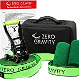 Slackline Kit with Industry Leading Carry Bag, Upgraded Ratchet w/ Molded Finger Grip & Smooth Operation + Tree Protectors; Great set for kids, Superior Quality in All Respects