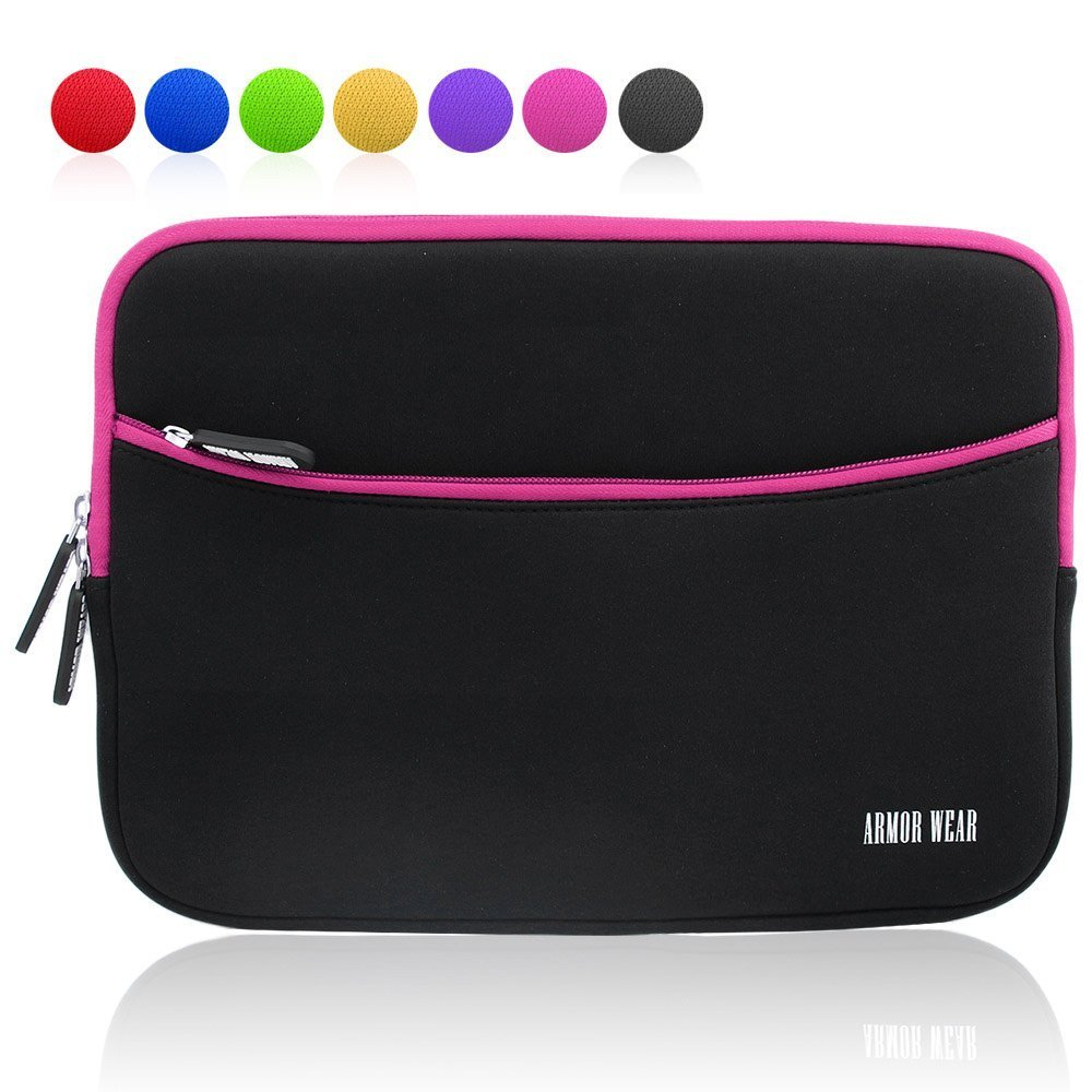 Armor Wear 10.1-Inch Shockproof Sleeve Case with Accessory Pocket for Tablets - Black/Blue AW-15PDB001-ZP10CHB