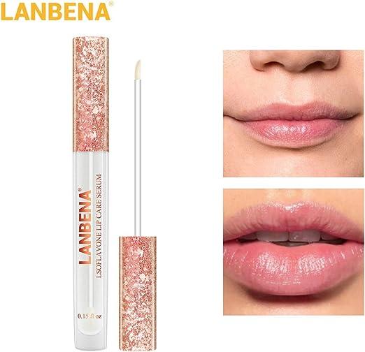 LanLan Esencia nutritiva para Labios, Care Serum Lip Plumper, Aumenta la Elasticidad del Labio Reduce Las líneas Finas, humectante para el Cuidado de los Lab