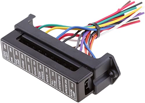 Amazon.com: Universal Car Boat 12Way Circuit Blade Fuse Box Holder Block  with Wire Harness: Automotive